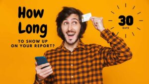 How long does it take for a new credit card to show up on your credit report